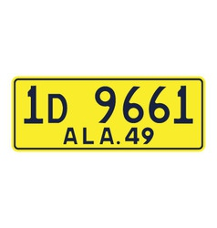 Alabama 1949 license plate vector image