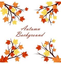 Autumn design vector image