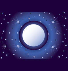 background with the night sky vector image