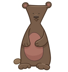 Bear cartoon character vector
