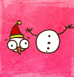 Beheaded Snowman Cartoon vector image