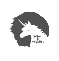 Believe in miracles vector
