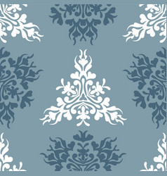 Blue royal spring seamless seasonal background vector