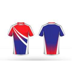 blue white and red layout e-sport t-shirt design vector image
