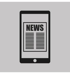 Breaking news in newspaper vector