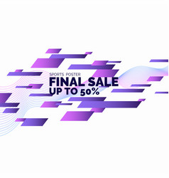 bright colorful poster sale 50 percent with vector image