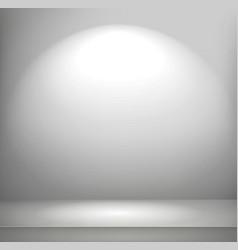 bright illuminated room vector image