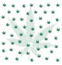 Cannabis leaf background vector