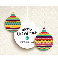 Christmas and new year fun color design bauble vector image
