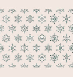 christmas new year seamless pattern green vector image