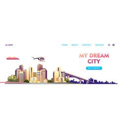 city buildings landscape concept banner vector image
