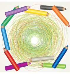 color pencils sketch vector image