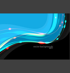Colorful curved vector