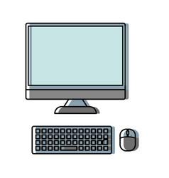 Computer desktop icon image vector