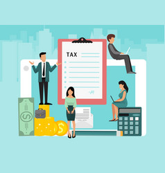 concept pay bills tax accounts online via vector image