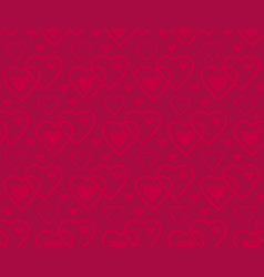deep red color pattern with heart vector image
