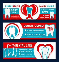 dental clinic dentistry treatment discount banner vector image