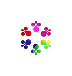 Digital colorful isolated circle logo template vector