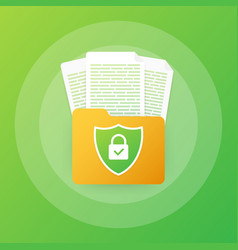 Document protection concept confidential vector