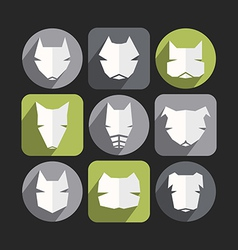 Dog icons in flat style vector