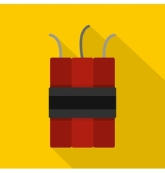 Dynamite explosives icon flat style vector