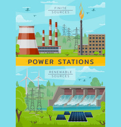 Eco energy power and nuclear plant water dum vector