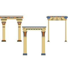 egyptian arch vector image
