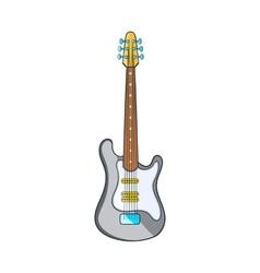 Electric guitar icon cartoon style vector image
