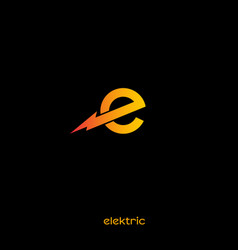 Electric logo with lightnin vector