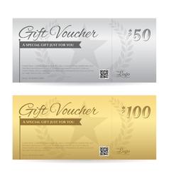 Elegant gift voucher or gift card certificate vector image
