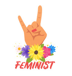 Feminist slogan for apparel design vector