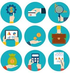Financial examiner icon Economic statistic icon vector