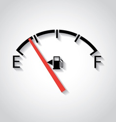 Gas gage vector image