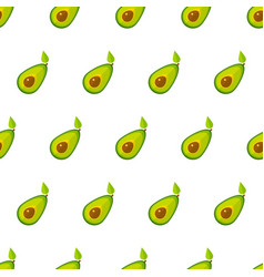 green avocado geometric vegetable seamless pattern vector image