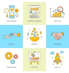 Growth and start up concepts icons vector