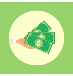 Hand hold money cartoon vector