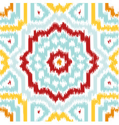 ikat fabric style rug texture pattern vector image