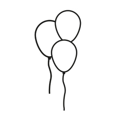 Isolated balloons of birthday design vector image