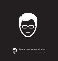 isolated sunglasses icon anonymous element vector image