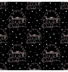 kniting background vector image