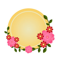 label with floral ornaments vector image