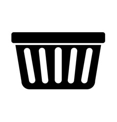 laundry basket isolated icon vector image
