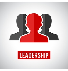 Leadership icon vector
