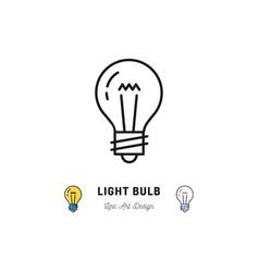 light bulb icons idea icon lightbulb thin line vector image