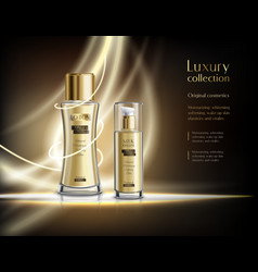 Luxury cosmetics realistic advertisement poster vector