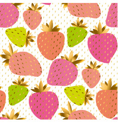 luxury pale color strawberry seamless pattern vector image