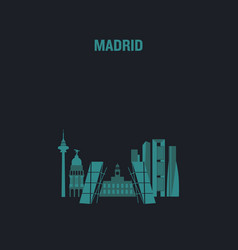 made with icons madrid vector image
