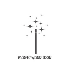 Magic wand icon simple flat style vector