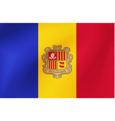 national flag andorra for sports competition vector image