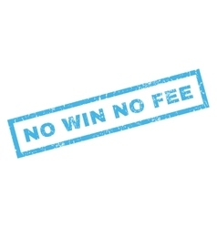 No Win No Fee Rubber Stamp vector image